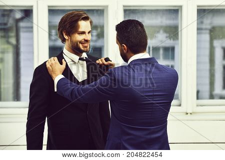 Business Conflict, Confident Men Or Businessmen Fight With Tie