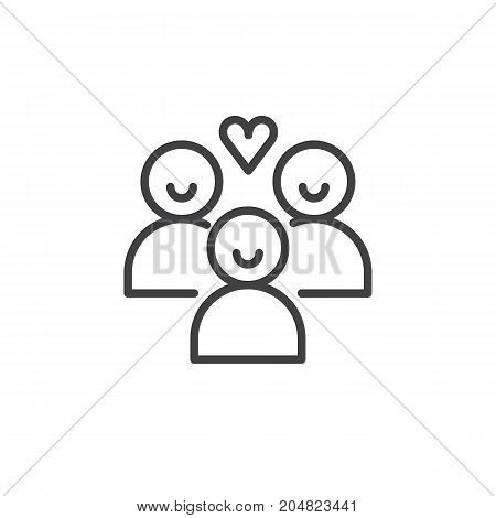 Donors people icon vector, filled flat sign, solid pictogram isolated on white. Charity symbol, logo illustration