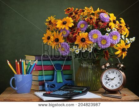 Teacher's day September 1 Knowledge day. The concept of
