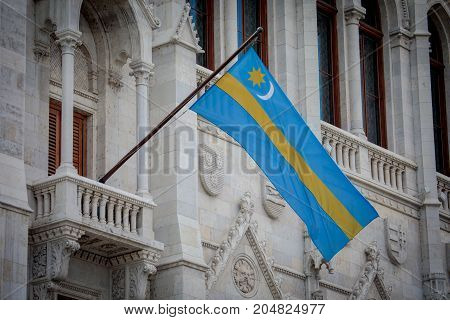 Flag Of Szekely Land Of Hungarian Parliament