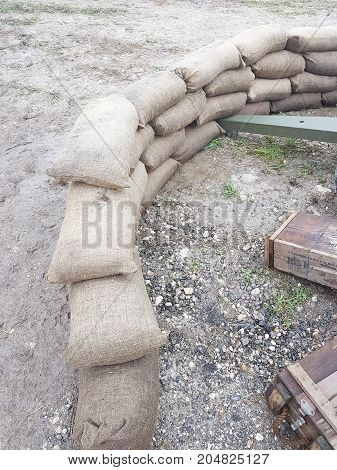 Military Sandbag Artillery For Army Force With Cannon