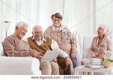 Elder Is Looking At Men