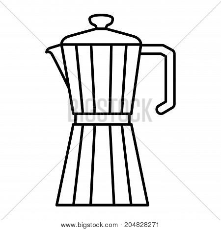 metallic jar of coffee with handle monochrome silhouette vector illustration