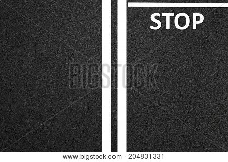 Asphalt As Abstract Background Or Backdrop, Road, Stop