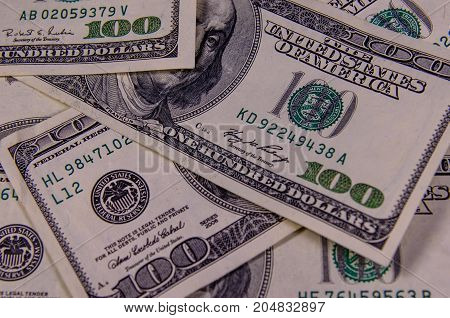 Background Of One Hundred Dollars Bills