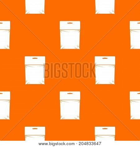 Package pattern repeat seamless in orange color for any design. Vector geometric illustration