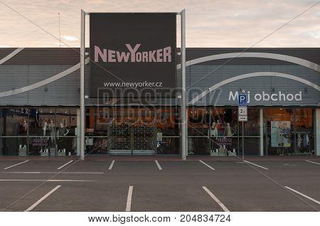 13 of September 2017 Editorial photo of New Yorker market Opava Czech Republic CZ