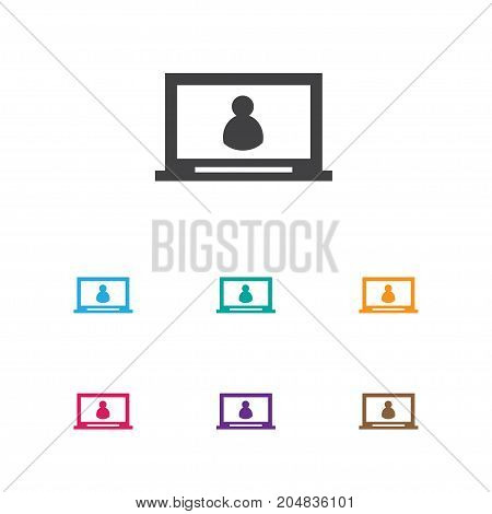 Vector Illustration Of Internet Symbol On Computer Icon