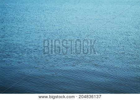 A soothing picture of the blue lake water