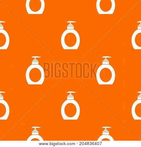 Liquid soap pattern repeat seamless in orange color for any design. Vector geometric illustration