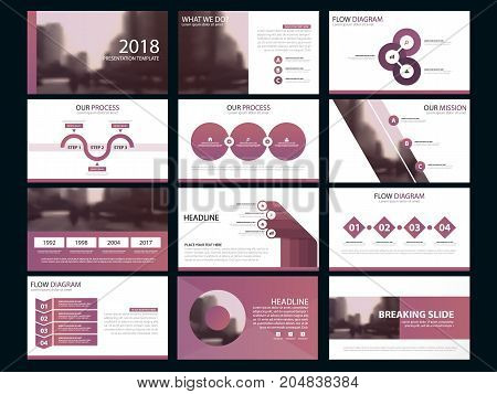 Business presentation infographic elements template set annual report corporate horizontal brochure design template