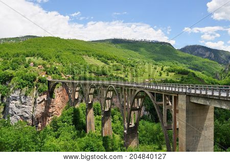 Djurdjevic's Bridge - a concrete arch bridge across the Tara River in northern Montenegro