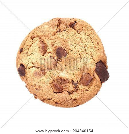 chocolate chip cookie cut out on transparent background