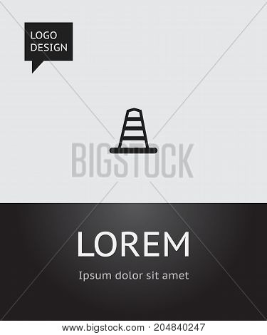 Vector Illustration Of Location Symbol On Obstacle Icon