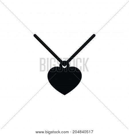 Choker Vector Element Can Be Used For Coulomb, Pendant, Choker Design Concept.  Isolated Necklace Icon.