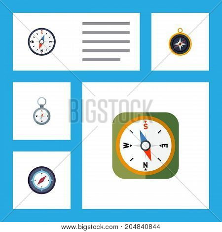 Flat Icon Orientation Set Of Compass, Direction, Orientation And Other Vector Objects