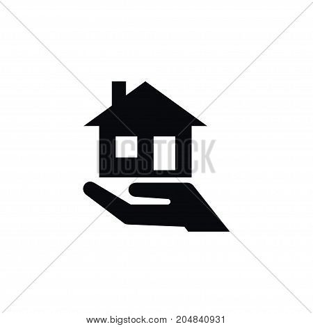 Purchase Realtor Vector Element Can Be Used For Mortgage, House, Hand Design Concept.  Isolated Mortgage Icon.
