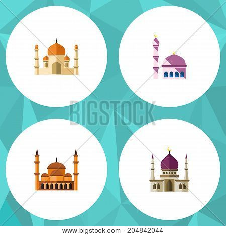 Flat Icon Minaret Set Of Traditional, Building, Mohammedanism And Other Vector Objects