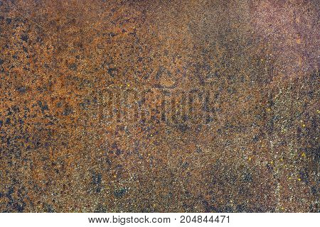 The Background of rusty brown metal texture