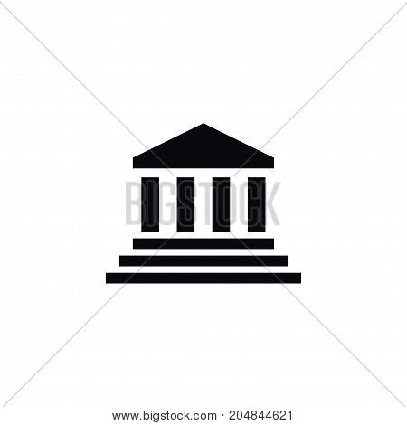 Bank Vector Element Can Be Used For Bank, Court, Building Design Concept.  Isolated Court Icon.