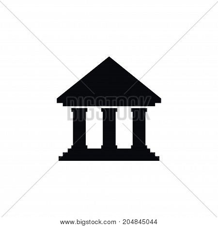 Library Vector Element Can Be Used For Library, Institute, Academy Design Concept.  Isolated Institute Icon.