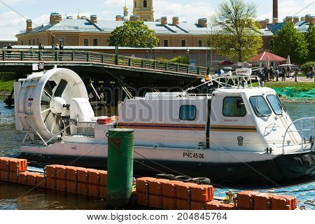 St. Petersburg, Russia - June 04.2017. Rescue boat Ministry of an Emergency Situations