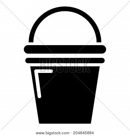 Water bucket icon . Simple illustration of water bucket vector icon for web design isolated on white background