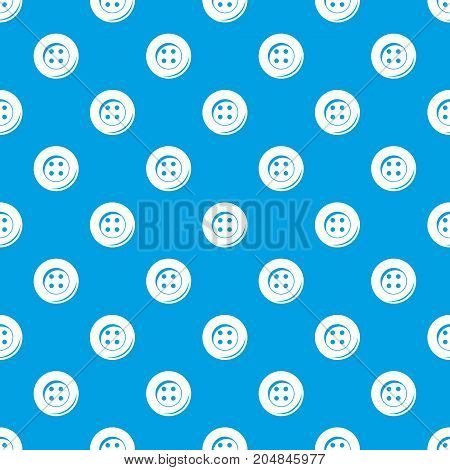 Button for sewing pattern repeat seamless in blue color for any design. Vector geometric illustration
