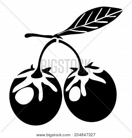 Eco berry icon. Simple illustration of eco berry vector icon for web design isolated on white background