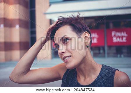 Portrait Of A Brunette.