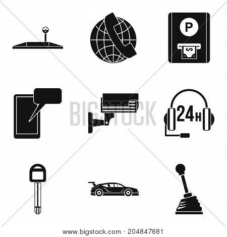 Online maintenance icons set. Simple set of 9 online maintenance vector icons for web isolated on white background