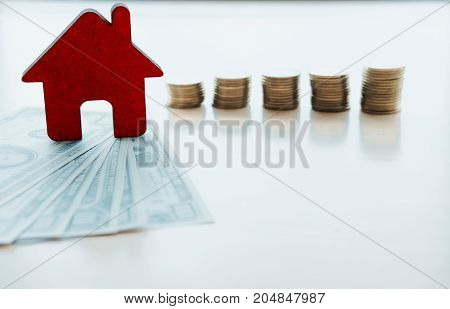 Finance And Banking About House Concept.