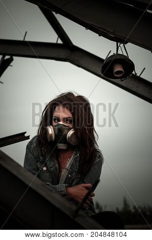 Woman In The Gas Mask