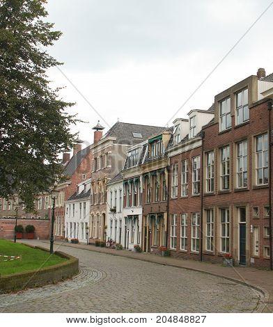 Groningen. September-17-2017. Historic houses in the center of the city of Groningen. The Netherlands