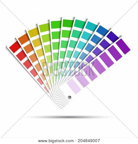 Color palette isolated on white background color vector samples