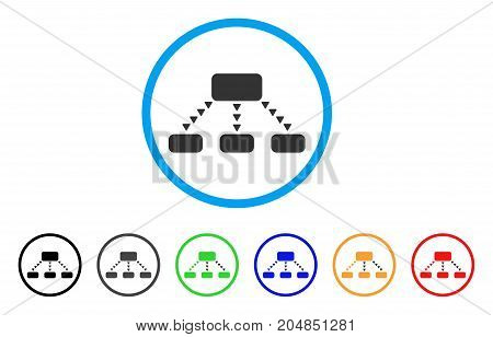 Dotted Scheme rounded icon. Style is a flat dotted scheme grey symbol inside light blue circle with black, gray, green, blue, red, orange variants. Vector designed for web and software interfaces.