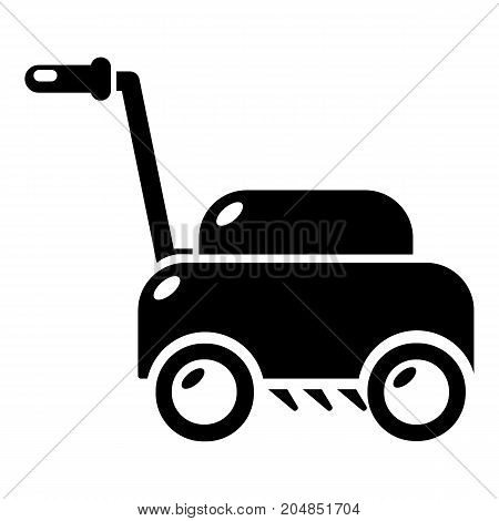 Lawn mower machine icon . Simple illustration of lawn mower machine vector icon for web design isolated on white background