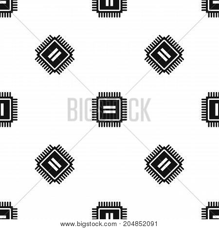 Electronic circuit board pattern repeat seamless in black color for any design. Vector geometric illustration