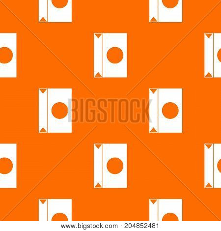 Big package pattern repeat seamless in orange color for any design. Vector geometric illustration