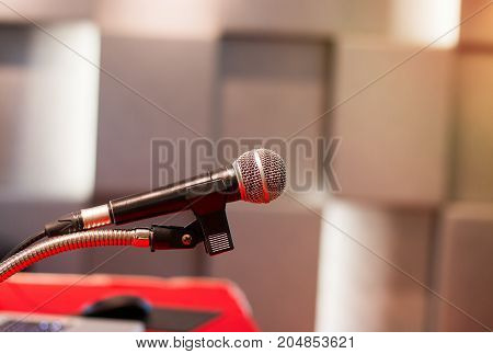 microphone in meeting classroom or conference room