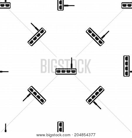 Router pattern repeat seamless in black color for any design. Vector geometric illustration