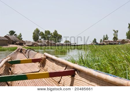 A fishing village on Niger river
