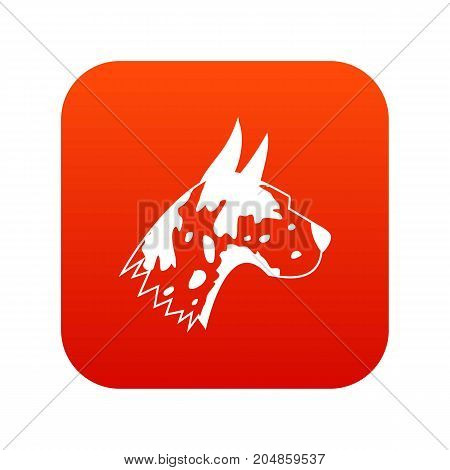 Great dane dog icon digital red for any design isolated on white vector illustration