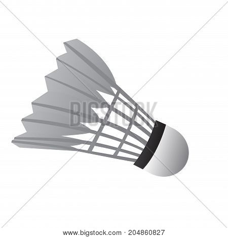 Isolated badminton shuttlecock on a white background, Vector illustration