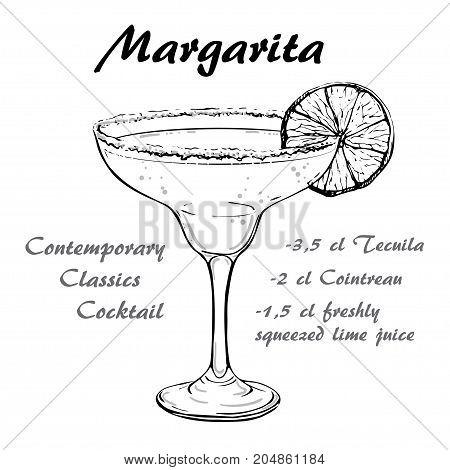 Vector illustration of Contemporary Classics Margarita sketch 0