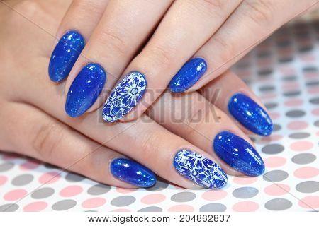 Manicure Design Blue