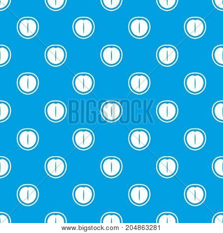 Macadamia nut pattern repeat seamless in blue color for any design. Vector geometric illustration