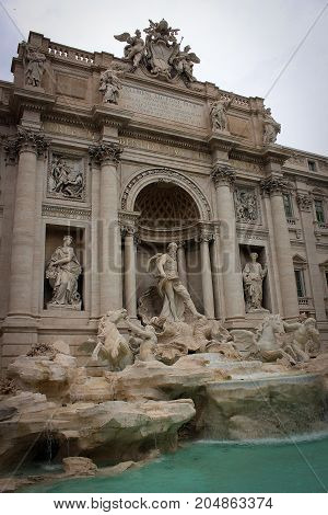Splendid ancient Trevi Fountain in Rome, Italy