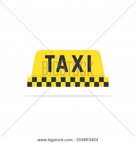 simple color taxi sign. concept of commercial taxi cab, metropolitan drive, tourism, mobile application emblem. flat style trend modern taxi logotype design vector illustration on white background