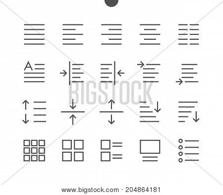 Edit text Pixel Perfect Well-crafted Vector Thin Line Icons 48x48 Ready for 24x24 Grid for Web Graphics and Apps with Editable Stroke. Simple Minimal Pictogram Part 1-4